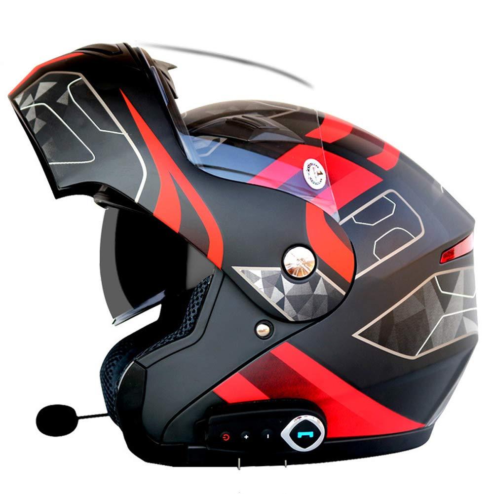 QYXANG Motorrad Blautooth Headset Audio Stereo Sound Doppel Objektiv Flip bis Frontmotor Fahrradhelme Kommt mit FM