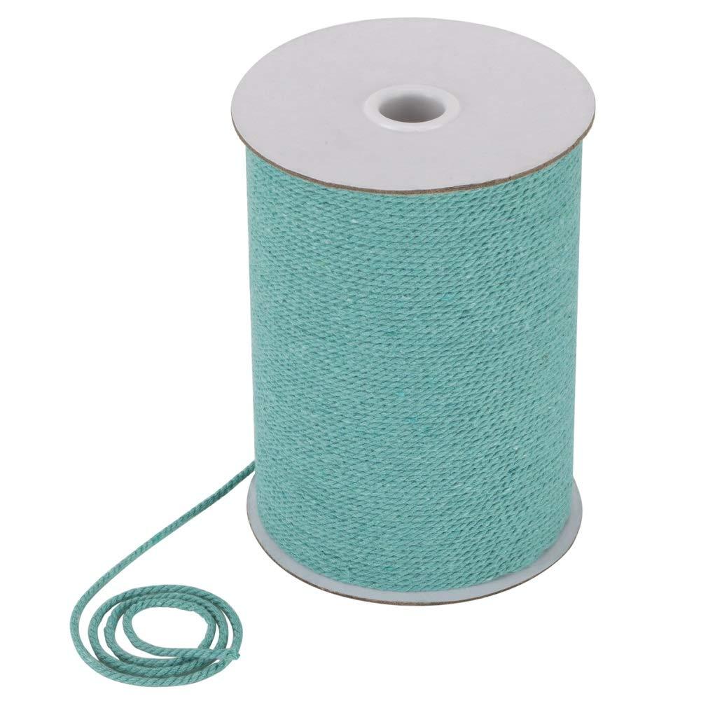 Medium Aquamarine Tenn Well 660 Feet Macrame Cord 2mm Cotton Cord DIY Craft Macrame Rope for Plant Hangers Wall Hangings