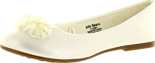 Details about  /Jelly Beans POSS Kid/'s Big Girl Fashion Mesh Bow Ballet Flat Shoes