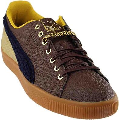 PUMA Men's Clyde BBall BHM Chestnut/Pale Khaki/Puma New Navy Athletic Shoe