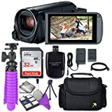 Canon VIXIA HF R800 Camcorder Sandisk 32 GB SD Memory Card + Accessory Bundle