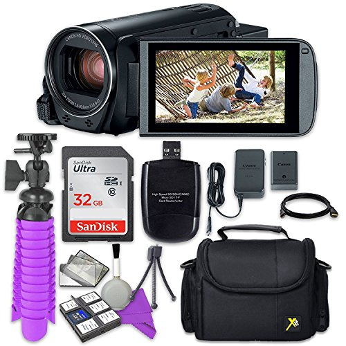 Canon VIXIA HF R800 Camcorder Sandisk 32 GB SD Memory Card + Accessory Bundle by Canon