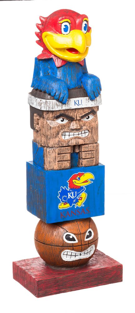 Team Sports America NCAA Kansas Jayhawks Tiki Totem