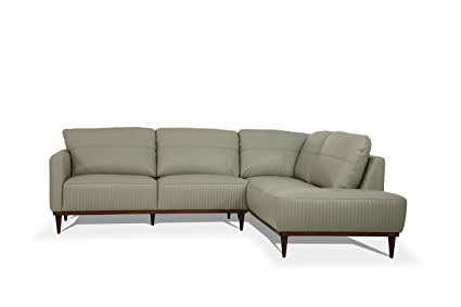 Amazon Com Acme Furniture 54975 Tampa Sectional Sofa Airy Green