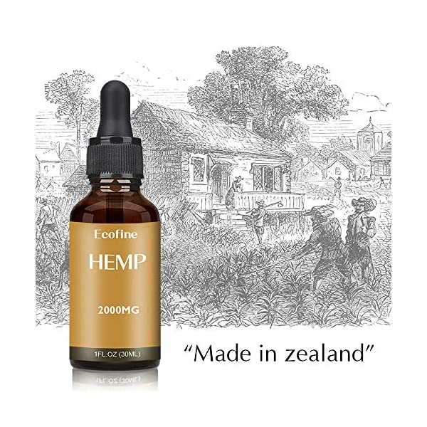 ECOFINE Hemp Oil,(2000mg)High Strength 30ml,Pure and Natural Essence,Made in New Zealand