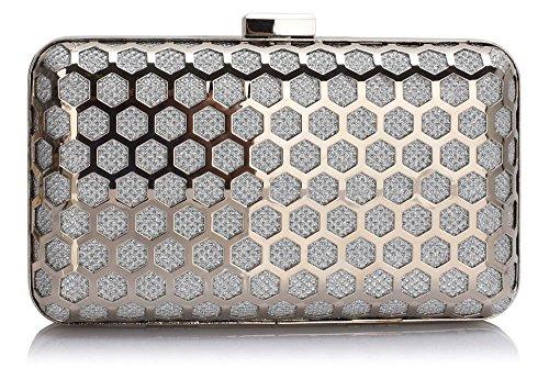 ANNA GRACE - Cartera de mano para mujer Design 1 - Silver