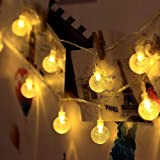 Techno E-Tail 20 LED Decorative Globe String Lights, Crystal Ball Hanging Fairy Lights for Home Decoration