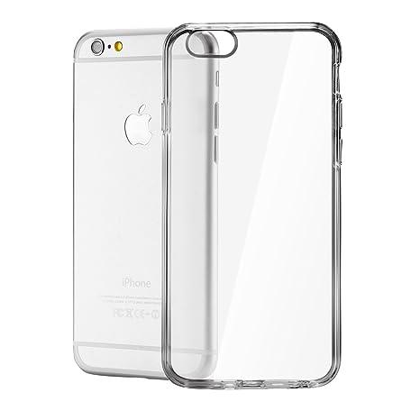 Funda iPhone 6S Plus y Funda iPhone 6 Plus (5.5 pulgadas),con cubierta de silicona a prueba de golpes,parachoques flexible y suave de Gloss Gel, ...