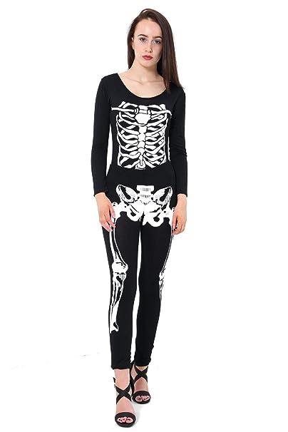 THREADWEAR Traje de Halloween Impreso para Mujer Negro ...