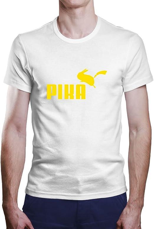 OKAPY Camiseta Pikachu. Una Camiseta de Hombre Para los Fans de Pokemon. Camiseta Friki de Color Blanca: Amazon.es: Ropa y accesorios