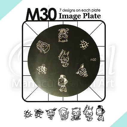 Placa de Diseños m30 Konad Original. Plantilla para uñas Stamping Image Plate Konad España: Amazon.es: Belleza