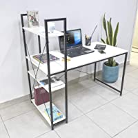 TOPLIVING Escritorio para Computadora Escritorio Minimalista Moderno Escritorios De Oficina (Blanco)