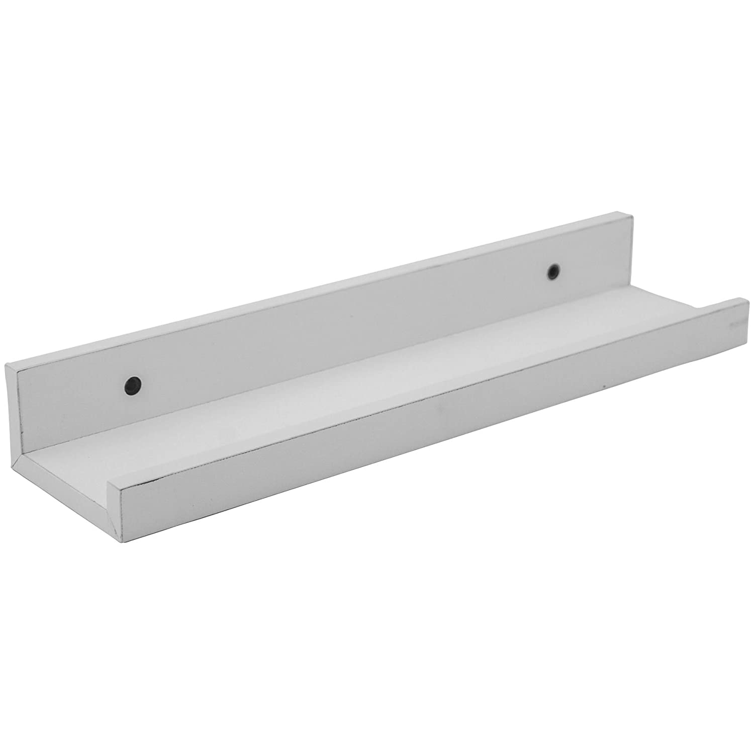 Harbour Housewares Wooden Wall Picture Ledge Shelf Shelves - 32.5cm - White