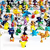 b301 Kingzer Pokemon Action Figures, 144-Piece, 2-3 cm