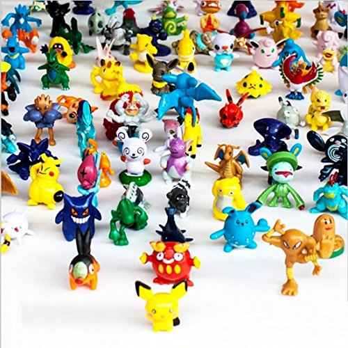 b301 Kingzer Pokemon Action Figures, 144-Piece, 2-3 cm by Generic