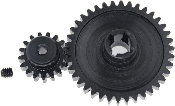 perfeclan Engranaje Servo Engranaje Motor de Pi/ñ/ón de 27t para Modelo Coche 1//18 RC Juquetes Piezas de Reemplazos