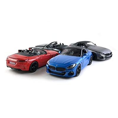 HCK Set of 4 2020 BMW Z4 Soft Top and Convertible Diecast Model Toy Sport Cars (Red/Blue/Black/Grey): Toys & Games