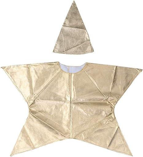 Happyyami Disfraz de Estrella de Navidad Trajes para Niño Dorado ...