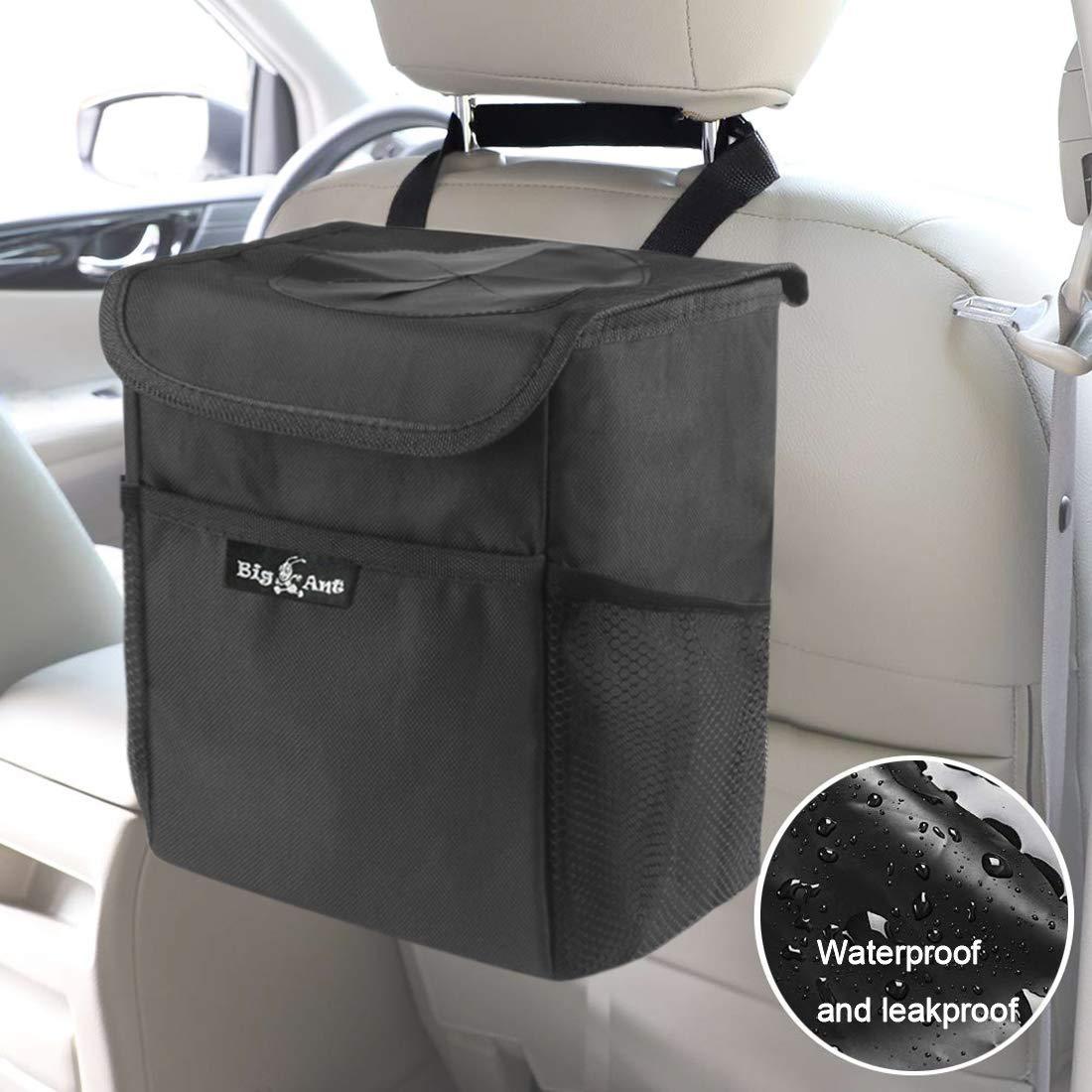 Samoleus Auto M/ülleimer mit Deckel Zusammenfaltbare Organizer Abfall-Tasche Wasserdicht Auslaufsicher Abfalltasche Auto