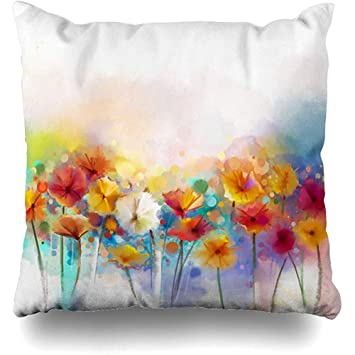 18/'/' Floral Pillow Case Throw Sofa Bed Car Waist Cushion Cover Home Decoration