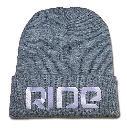 ZZZB Ride Snowboard Skateboard Logo Beanie Fashion Unisex Embroidery Beanies Skullies Knitted Hats Skull Caps - Grey (Beanie Ride Logo)