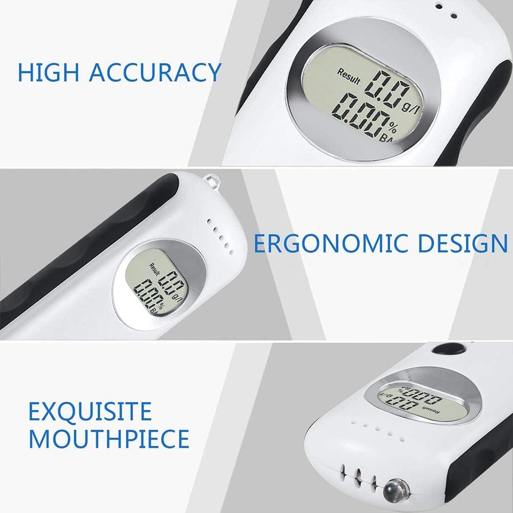 DSCT Etilometro Tester per alito Digitale Portatile Analizzatore accurato di Grado Professionale Rilevatore di Contenuto di Alcol nel Sangue Il miglior Regalo per Una Guida sicura,Bianca