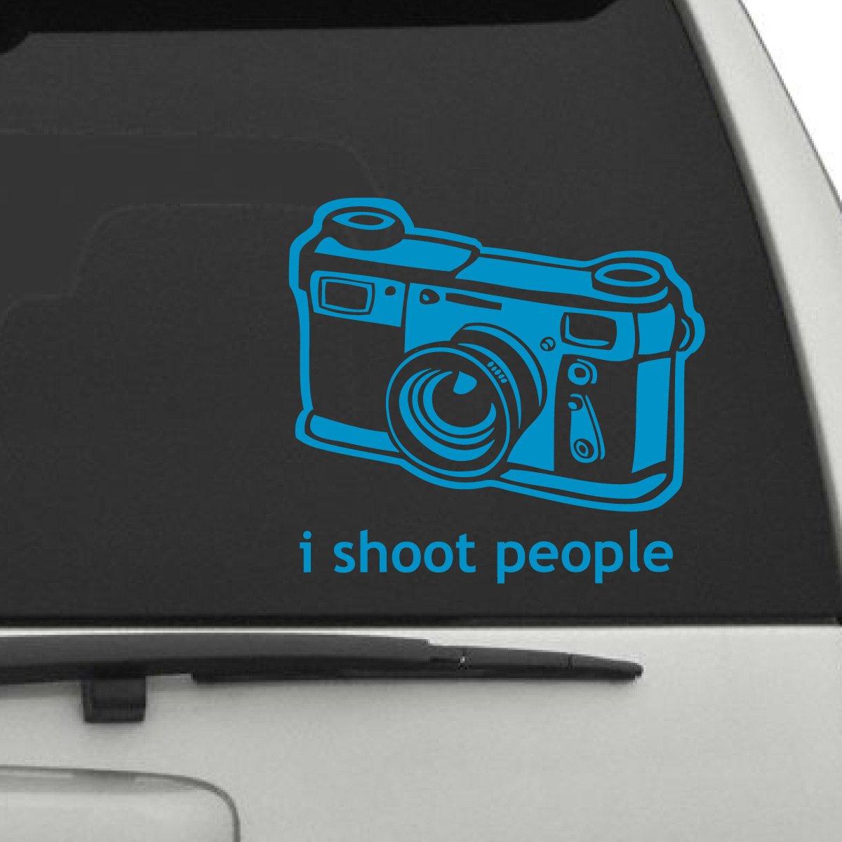 "I Shoot People車デカール、Die Cut Vinyl Decal for Windows車、トラック、ツールボックス、ノートパソコン、ほぼすべてmacbook-ハード、滑らかな表面 7"" H x 8"" W Titans-Unique-Design-111812 7\ グレー B071P39JYD"