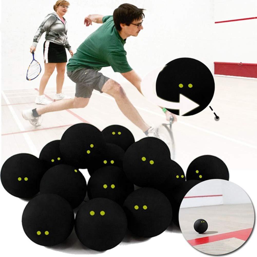 kaakaeu Professional Player Pelota de Squash para competici/ón//Entrenamiento con 2 Puntos Amarillos de Baja Velocidad