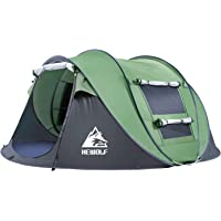 Hewolf Automatic Pop-Up Tents - Instant Portable Cabana Beach Tent - Water-resistant & UV Protection Sun Shelter for Beach Camping Hiking