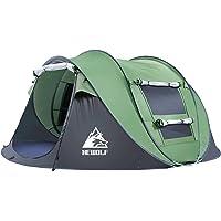 HEWOLF Wurfzelt Zelt 2-5 Personen - Pop Up Zelt -Camping Zelt -Familienzelt Sonnenschutz Tragbar