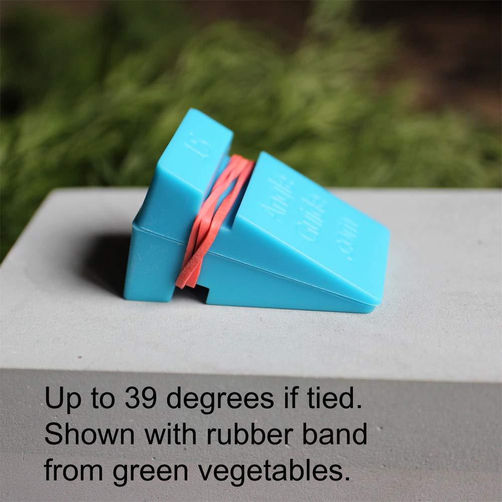 Guías de cuñas angulares para afilar cuchillos en piedra de 10 a 20 grados, azul