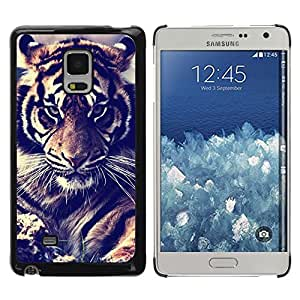 FlareStar Colour Printing Tiger Vignette Filter Fur Roar Big Cat cáscara Funda Case Caso de plástico para Samsung Galaxy Mega 5.8 / i9150 / i9152