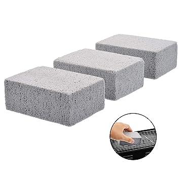 3 piezas de limpiador de piedra para parrilla, ecológico ...