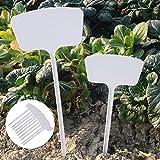 Whitelotous 10 PCs Big Long Plastic Plant Label T-type Tags Markers Nursery Garden Labels (45 cm)