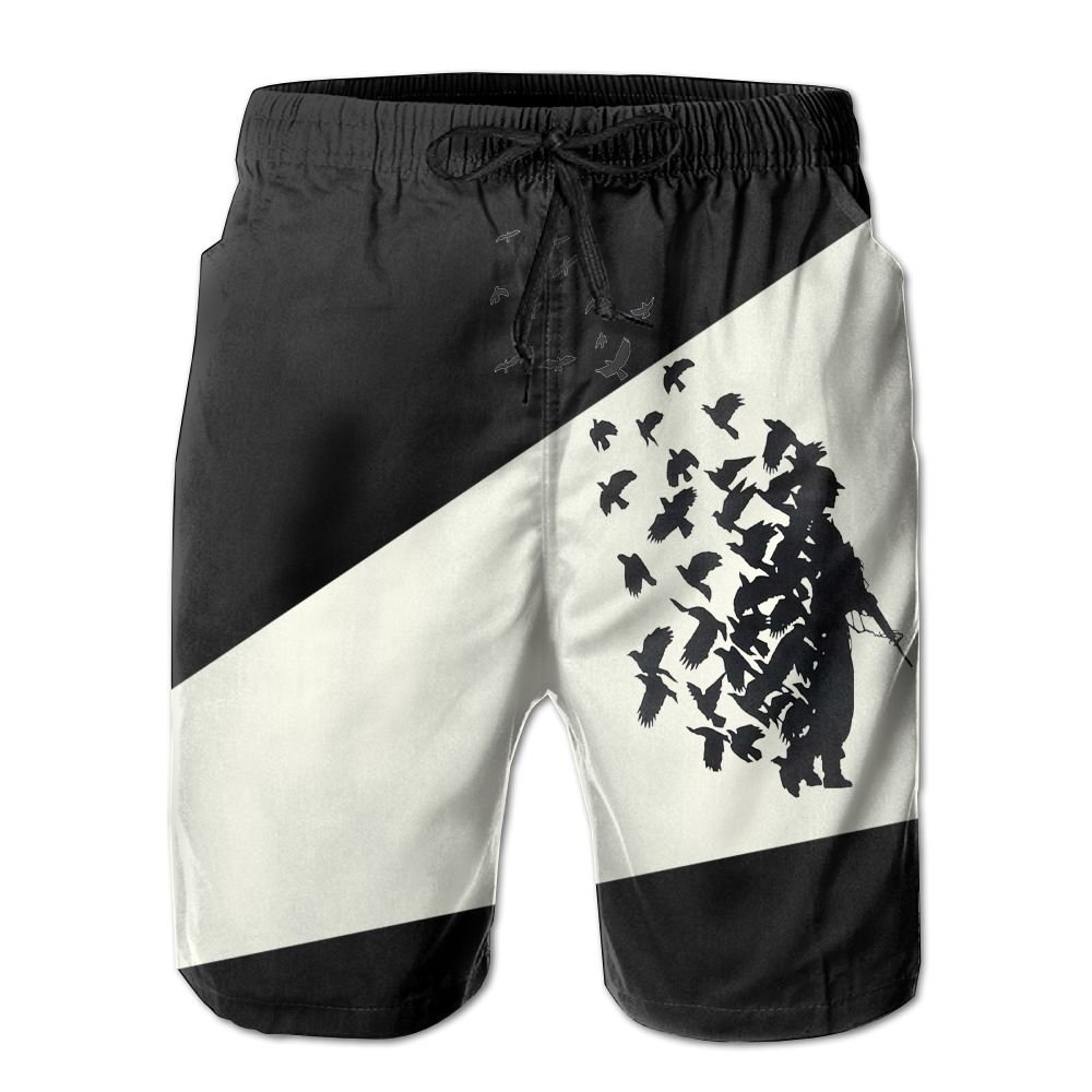Pigeon Soldier Peace Love Mens Athletic Classic Summer Boardshorts with Pockets
