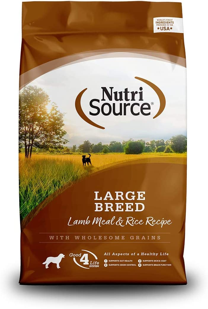NutriSource Large Breed Lamb & Rice Dog Food 30 lb