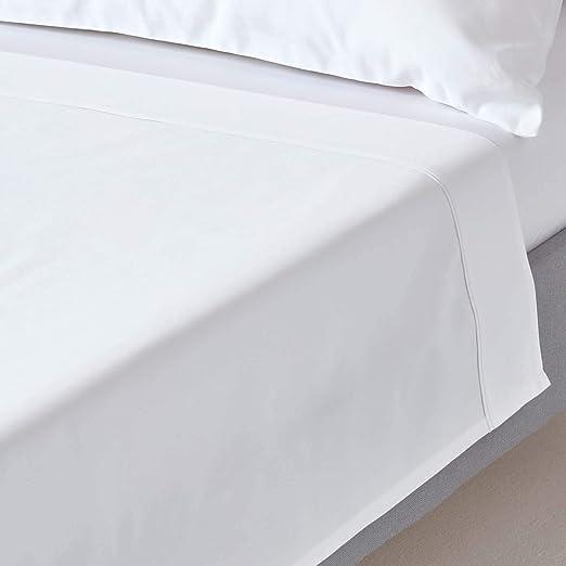 Homescapes Sábana encimera de color Blanco 230 x 260 cm en 100 ...