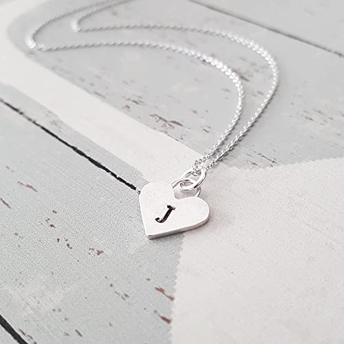Amazon personalized sterling silver heart letter j initial personalized sterling silver heart letter quotjquot initial necklace aloadofball Image collections