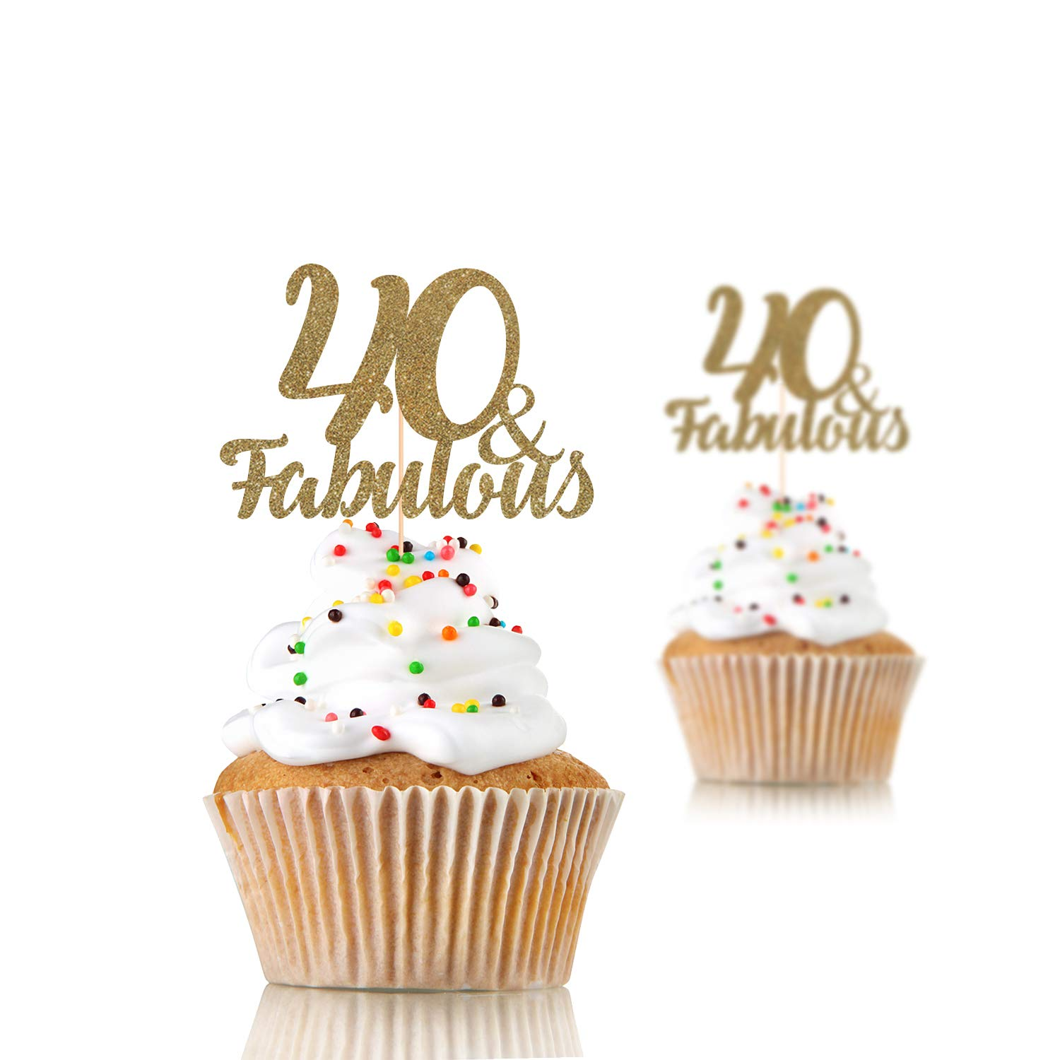 12 x 21st rose gold glitter cupcake toppers 16 21 18 30 40 50 60 70 80 birthday