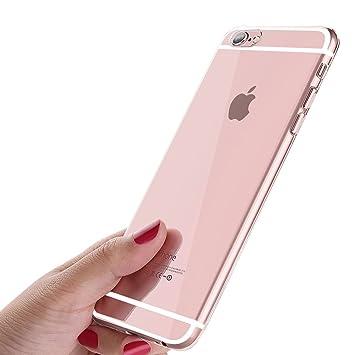 iKALULA Funda iPhone 6S, Ultra-Delgado Carcasa iPhone 6 Anti-Rasguño Anti-Golpes Protección Gota Estuche Silicona Suave TPU Protectora Caso para ...