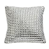 Decorative Mirror Crystal Embellished Pillow