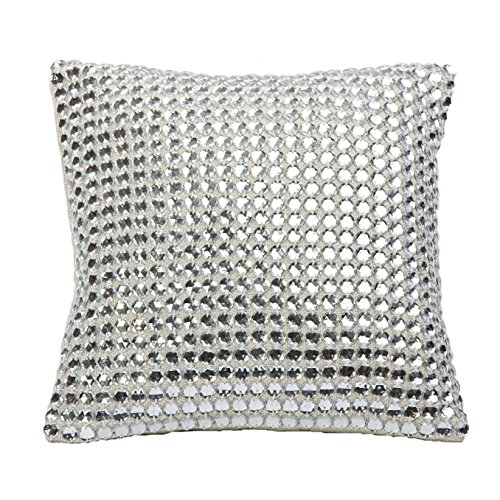 Decorative Mirror Crystal Embellished Pillow by SIVAANA