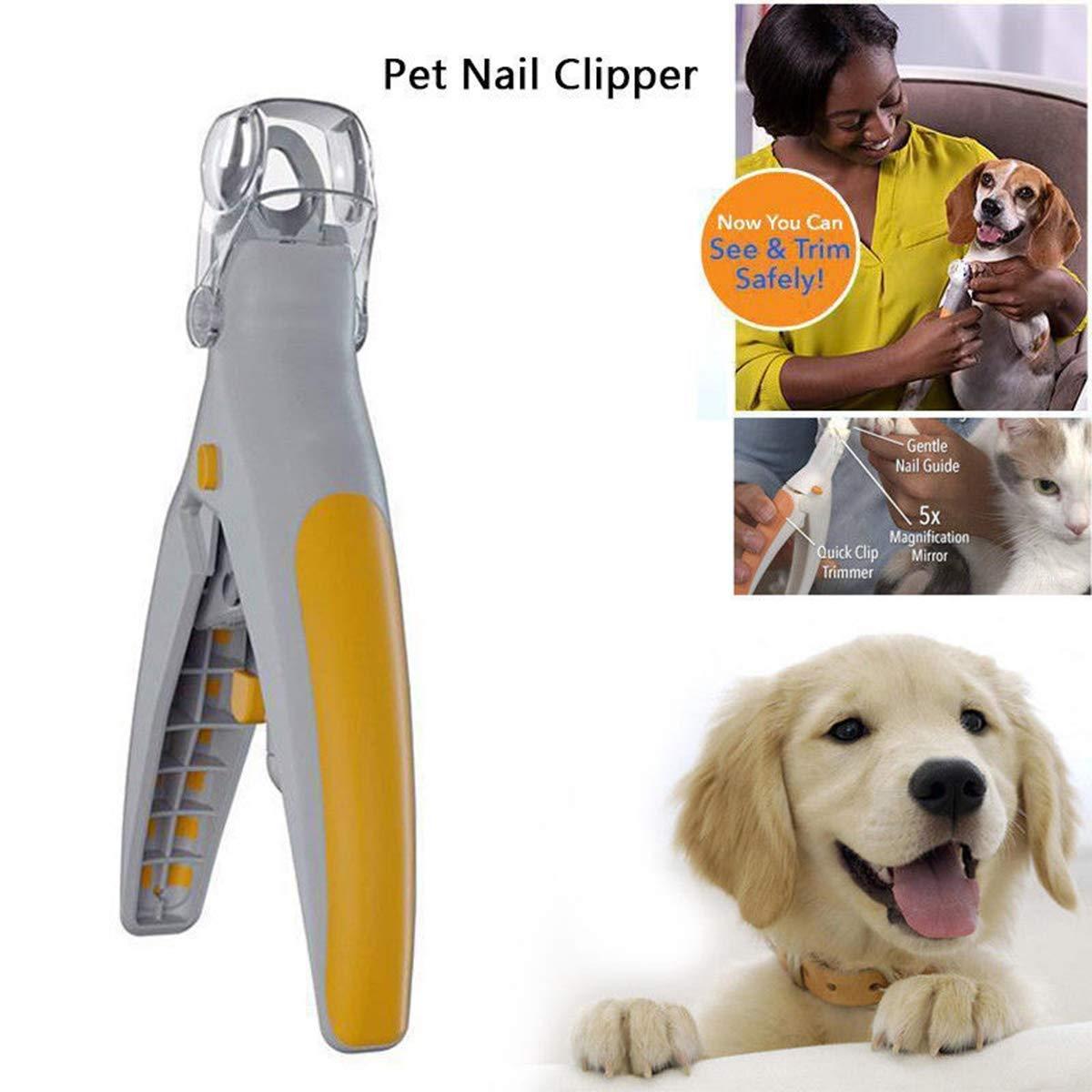 HyPee 2018 Magic Nails Haustiere Cutter Pet Nagelknipser, Hund Nagel Trimmer und Zehennagel Clippers, Pet Nagel Scissor Great für Katzen und Hunde, Funktionen LED-Licht