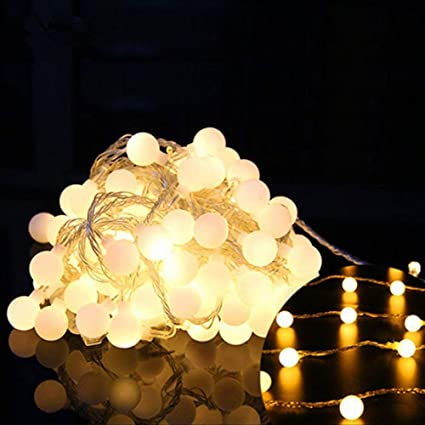 Led Christmas Lights Warm White.Amazon Com Peaubogo 16ft 40led Warm White Led Christmas