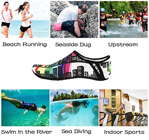 Yoga Water Exercise Skin Building Outdoor IceUnicorn Beach Surfing Shoes Diving Mens Barefoot for Swim Running Socks Shoes Womens Snorkeling awgHdq