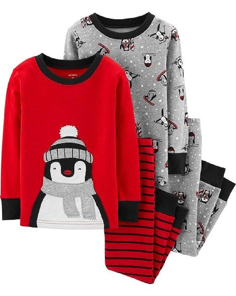 c189414ba Amazon.com  Carter s 4-Piece Penguin Snug Fit Cotton PJs