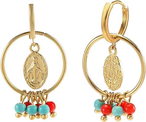 genuine turquoise earrings 14 kt Gold Filled Chain Tassle Dangle Earrings unique earring for her