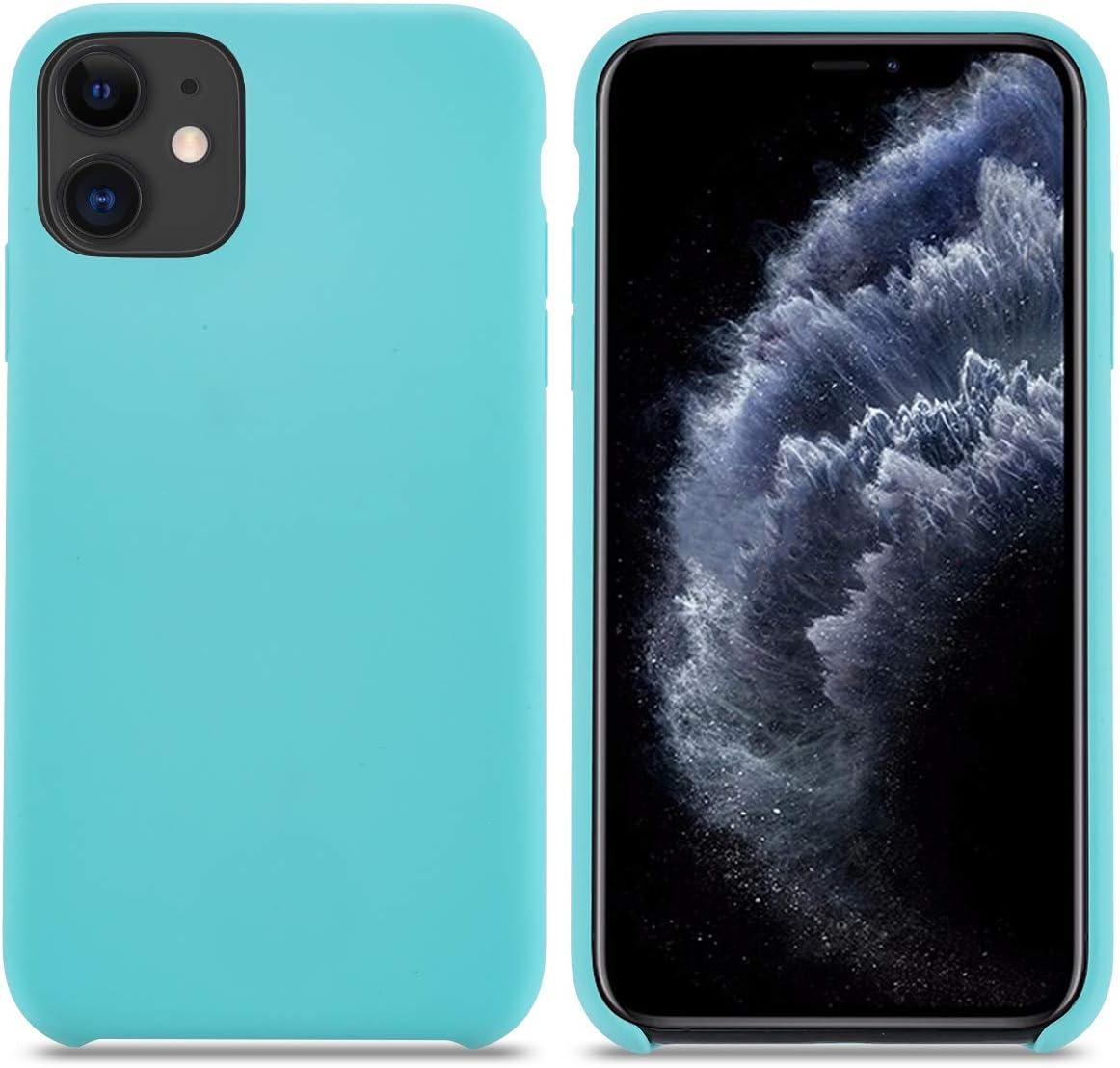Coque iPhone 11Silicone Liquide avec Doux MicrofibreHousse Etui de Protection Anti Choc Gel Case pour iPhone 11 Orange