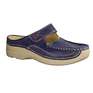 Wolky Roll Slipper 0622715820, Blau Denim Clogs