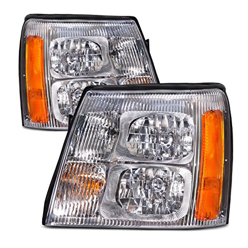 FRONT HEADLIGHT Cadillac Escalade 02 HALOGEN TYPE HEAD LIGHT SET (Does not plug into newer models)